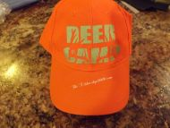 Deer Camp Blaze Orange Hat