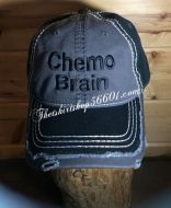 Chemo Brain Cap Hat Embroidered